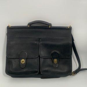 Authentic Coach black leather messenger bag